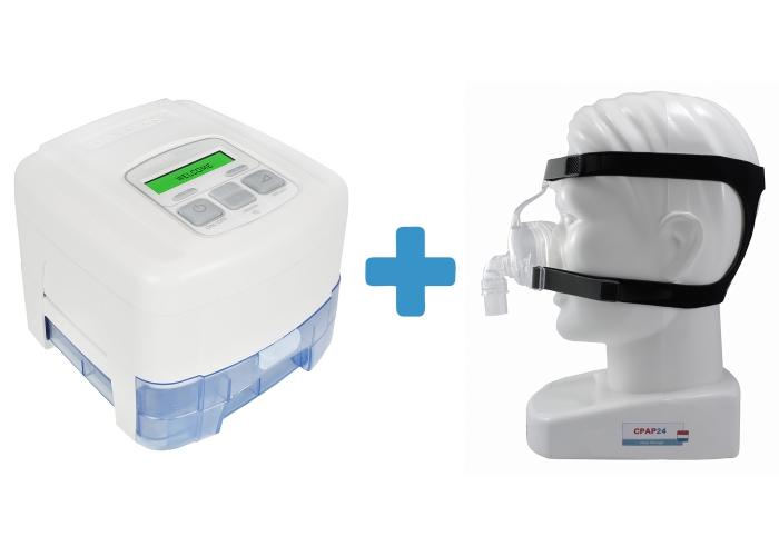 Оферта: Стандартен CPAP SleepCube Standard Plus + Подгряващ овлажнител за SleepCube + Назална маска D100N